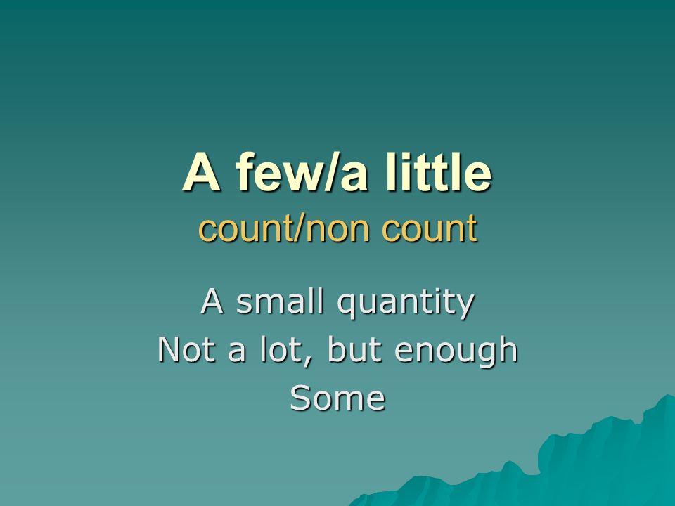 A few/a little count/non count