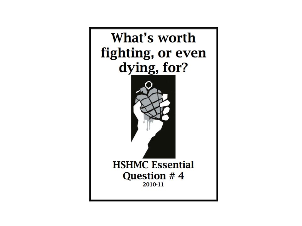 This was the schoolwide essential question for 9 weeks.