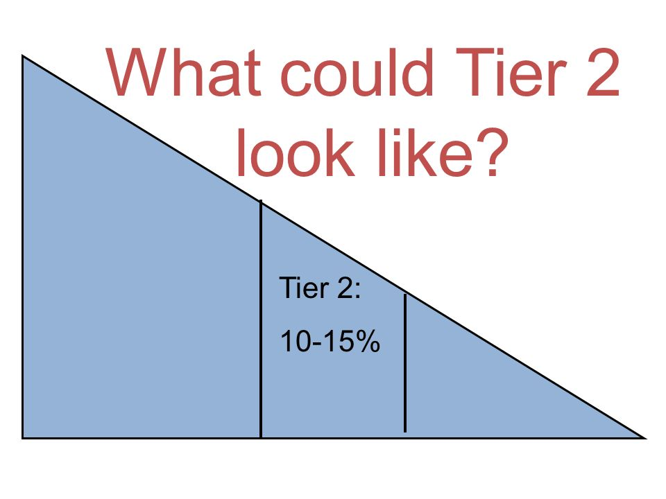 What could Tier 2 look like Tier 2: 10-15% p. 23