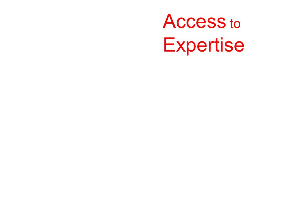 Access to Expertise. p. 55.