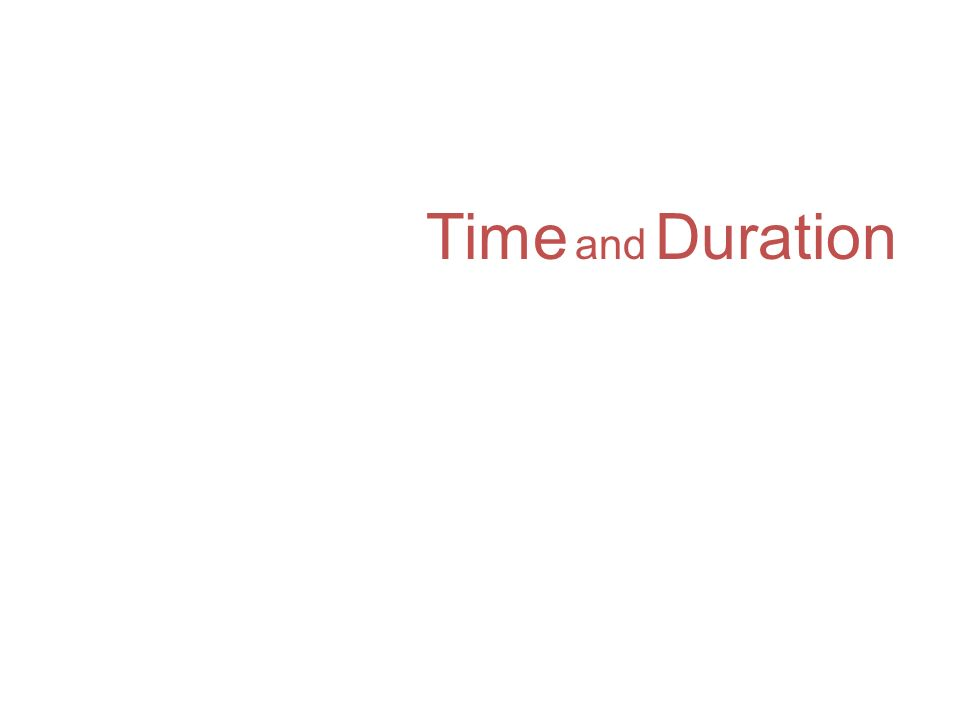 Time and Duration p. 54