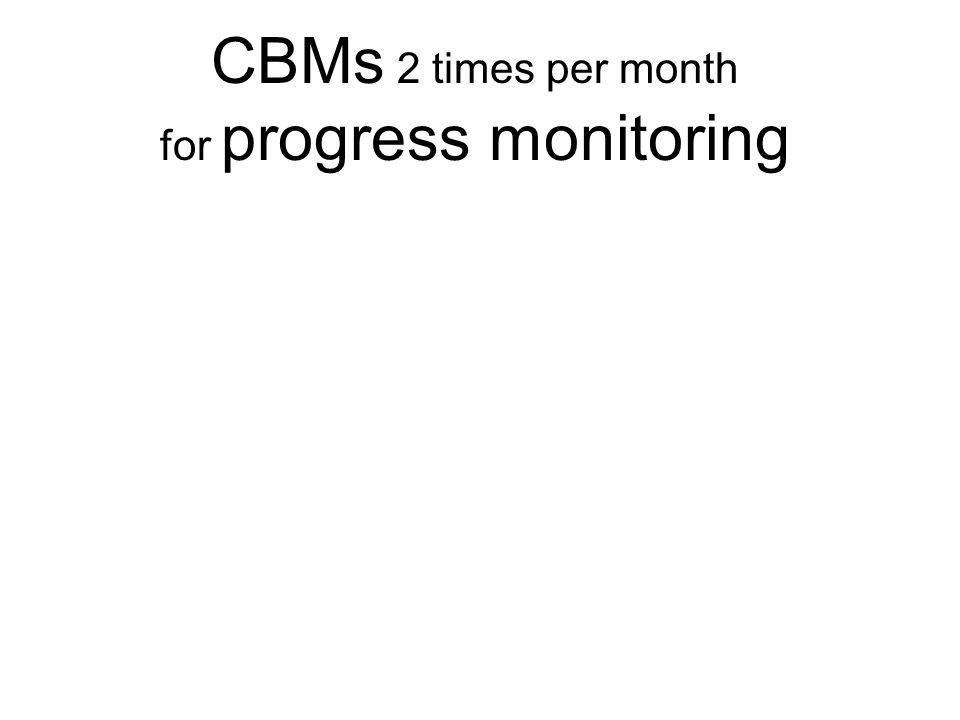 for progress monitoring