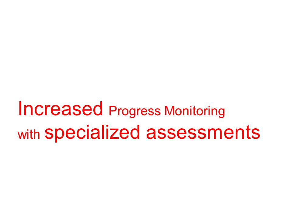 Increased Progress Monitoring