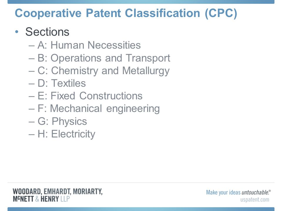 Cooperative Patent Classification (CPC)