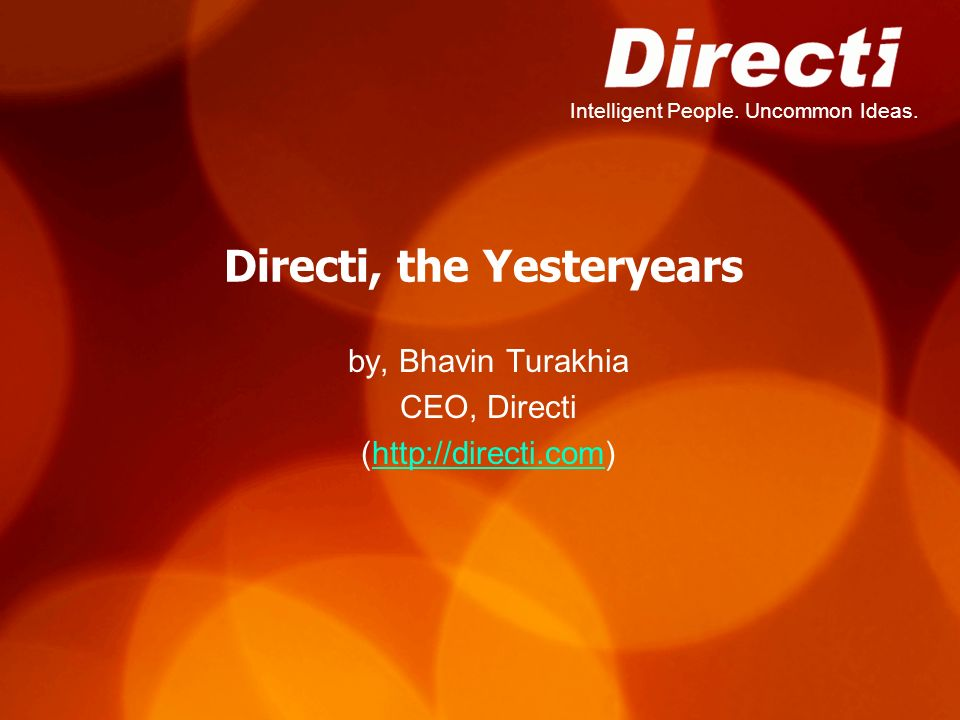 Directi, the Yesteryears