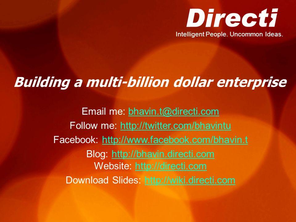 Building a multi-billion dollar enterprise