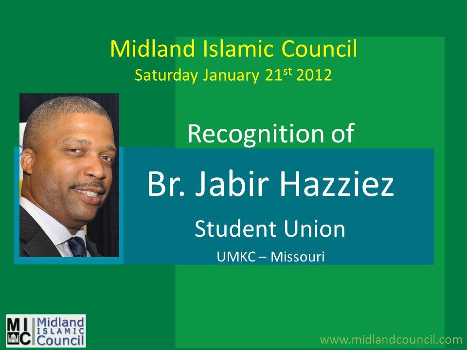 Midland Islamic Council Saturday January 21st 2012