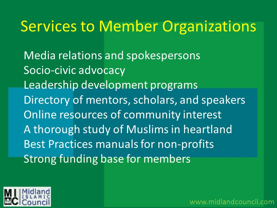 Services to Member Organizations