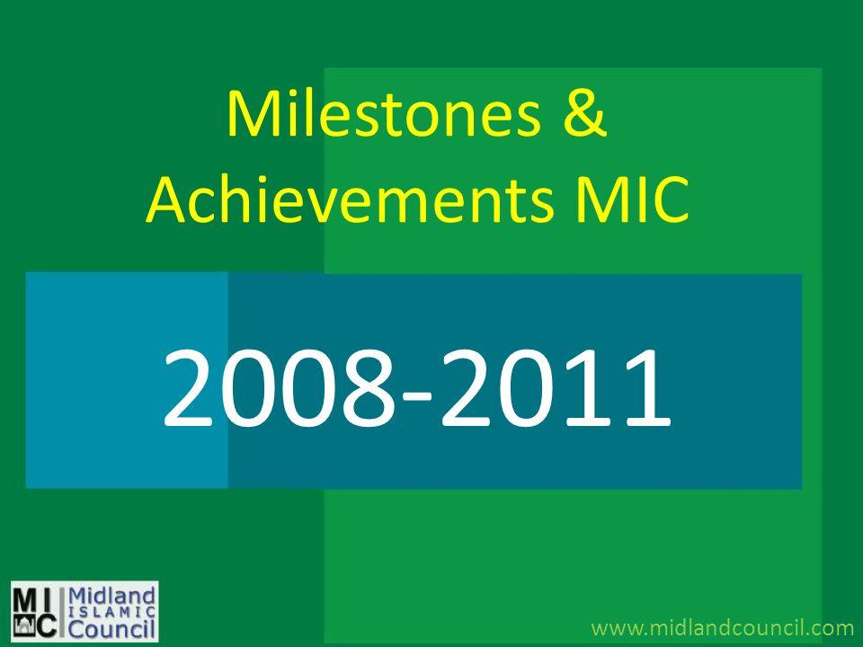 Milestones & Achievements MIC