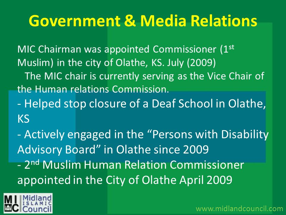 Government & Media Relations