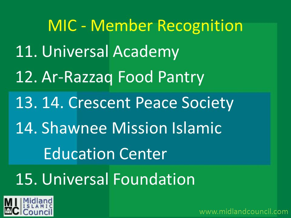 MIC - Member Recognition