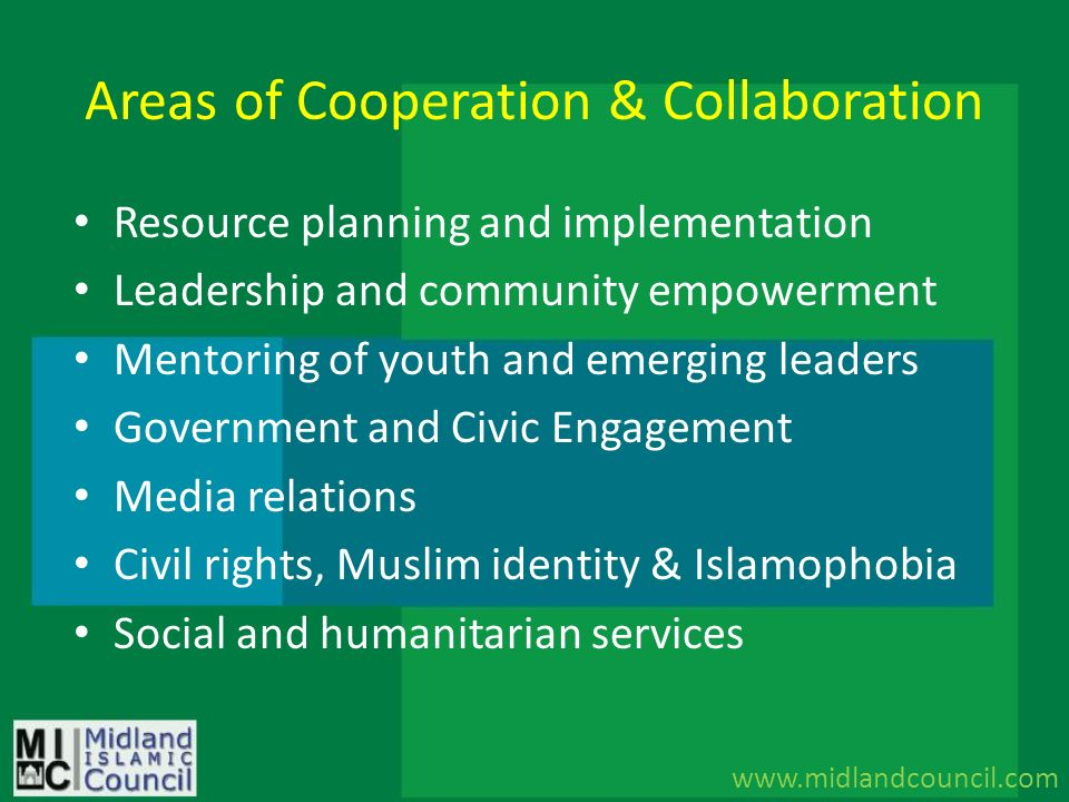 Areas of Cooperation & Collaboration