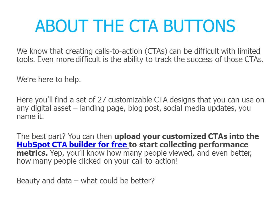 ABOUT THE CTA BUTTONS