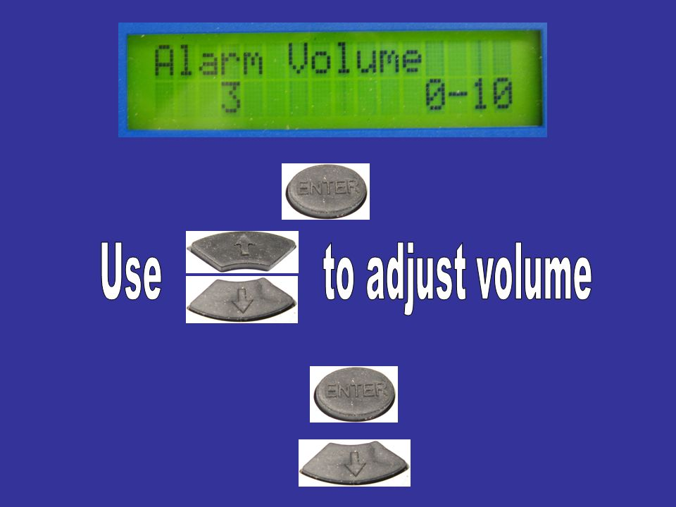 Use to adjust volume