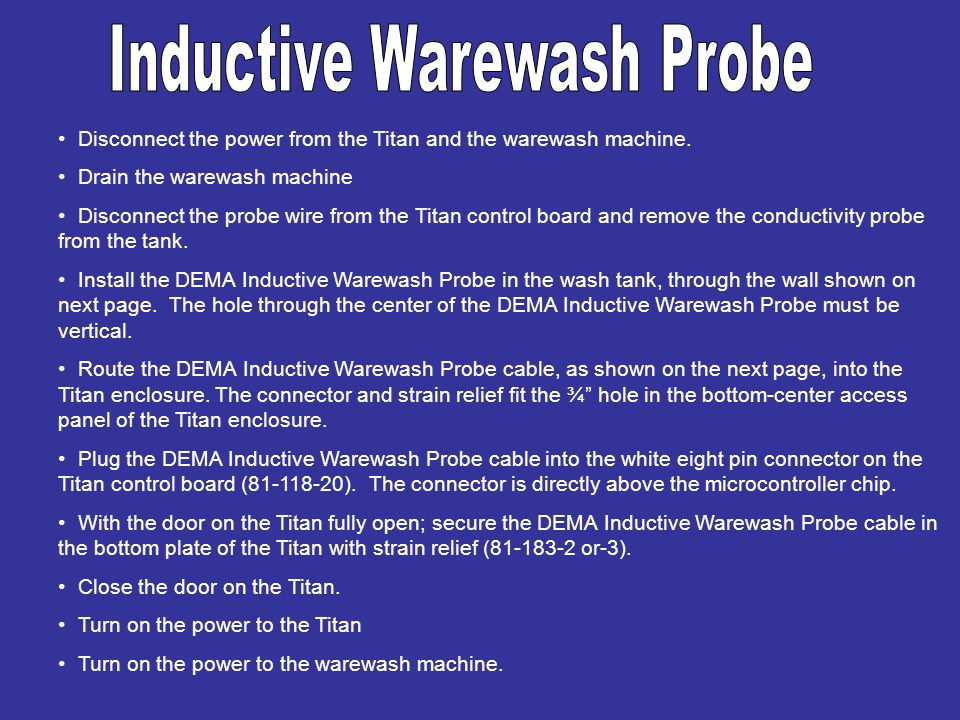 Inductive Warewash Probe