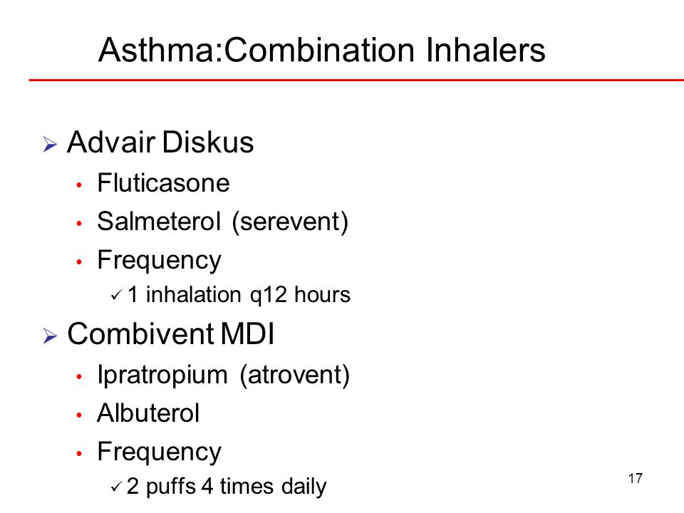 Asthma:Combination Inhalers