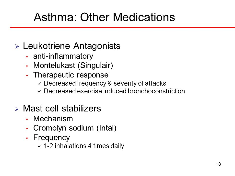 Asthma: Other Medications