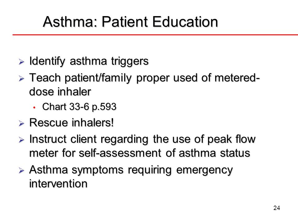 Asthma: Patient Education