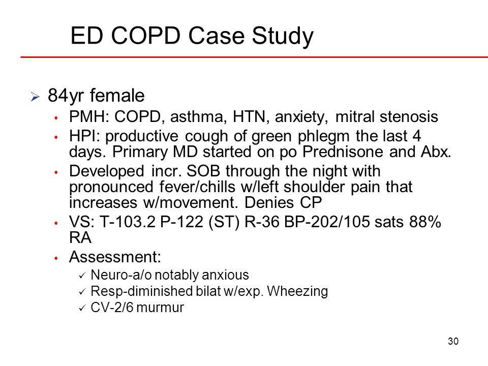 ED COPD Case Study 84yr female