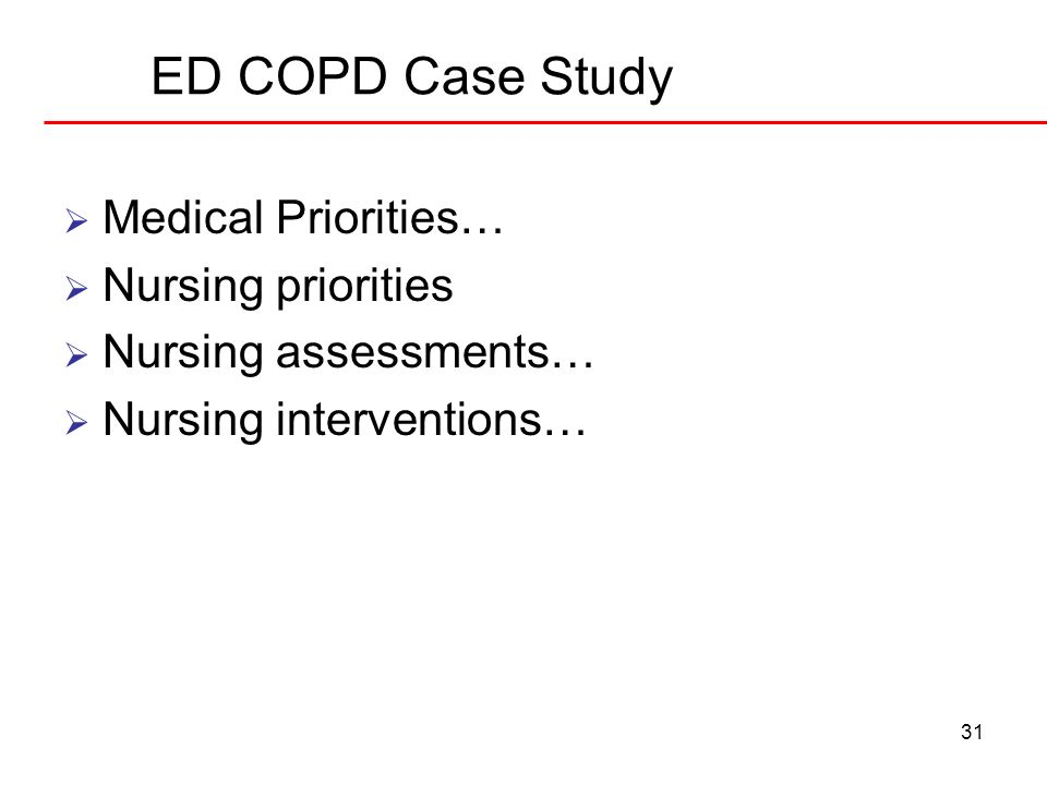copd case studies for nurses Case managing the copd patient posted nurse practitioners, pharmacists, and nurses case study: copd by kathleen moreo, rn, cm, bsn.
