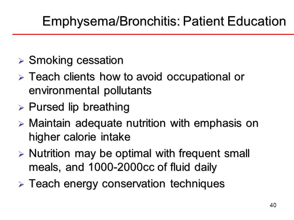 Emphysema/Bronchitis: Patient Education