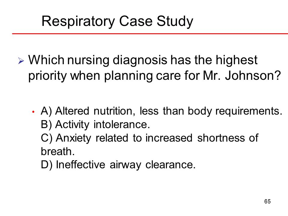 anxiety case study nursing