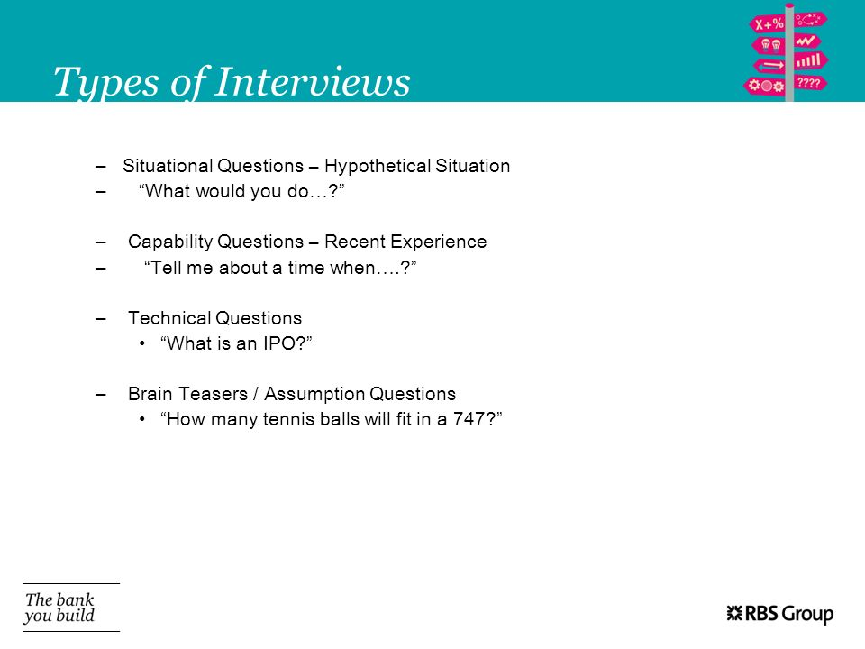 Types of Interviews Situational Questions – Hypothetical Situation
