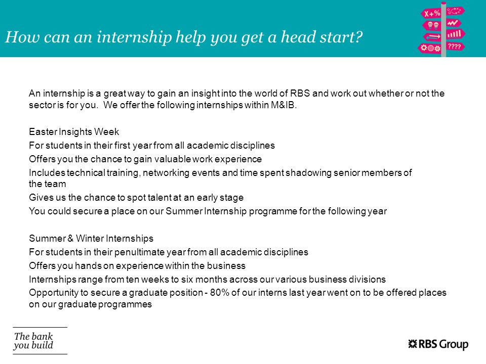 How can an internship help you get a head start