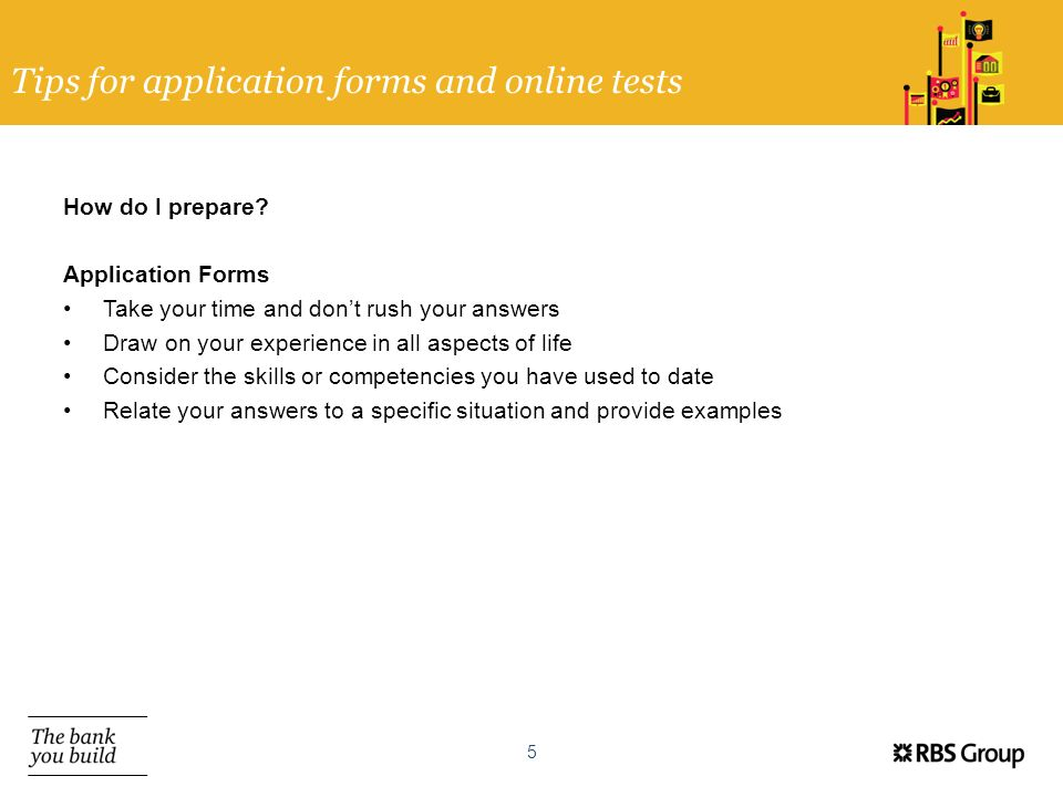 Tips for application forms and online tests