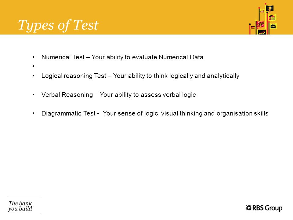 Types of Test Numerical Test – Your ability to evaluate Numerical Data