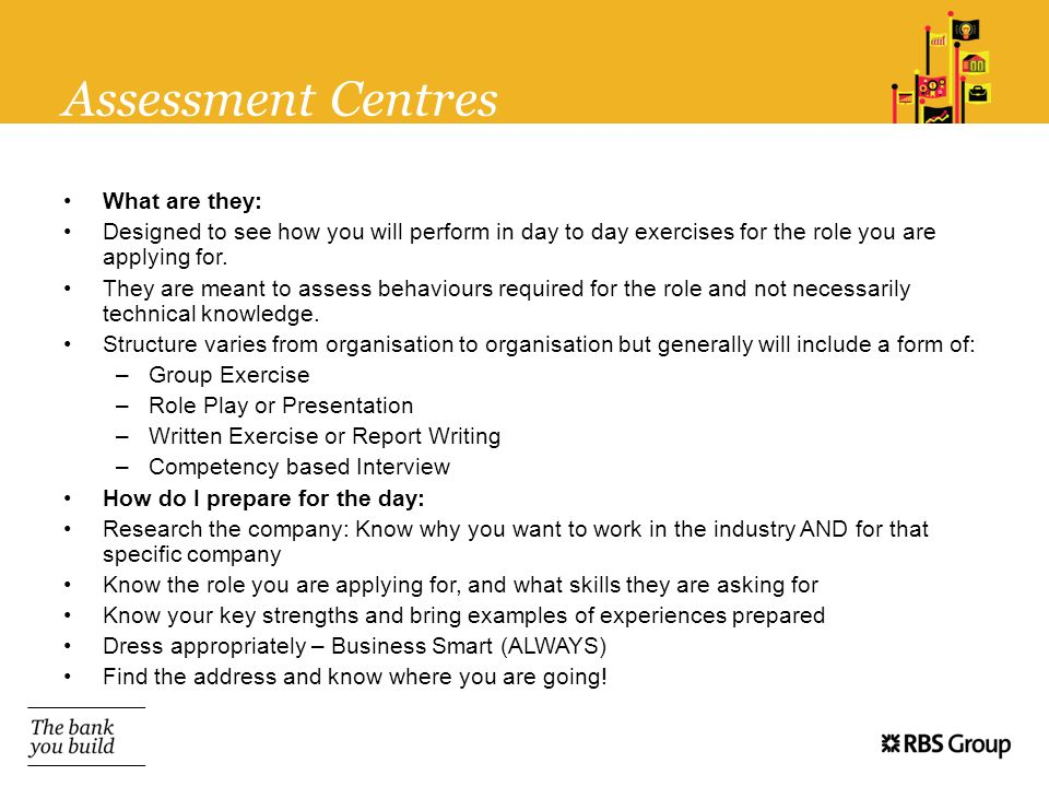 Assessment Centres What are they: