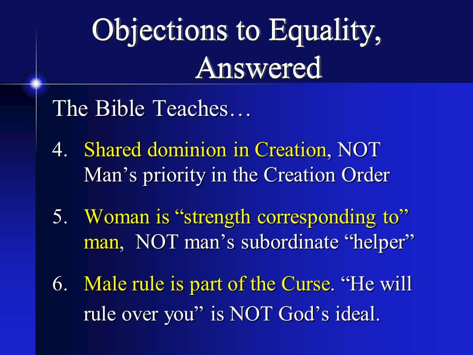 Objections to Equality, Answered