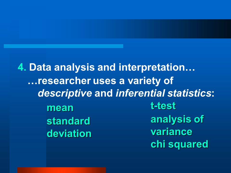 4. Data analysis and interpretation…
