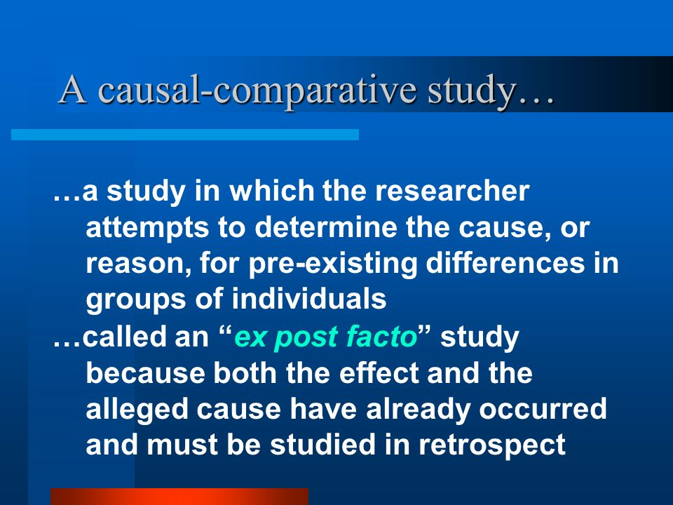 A causal-comparative study…