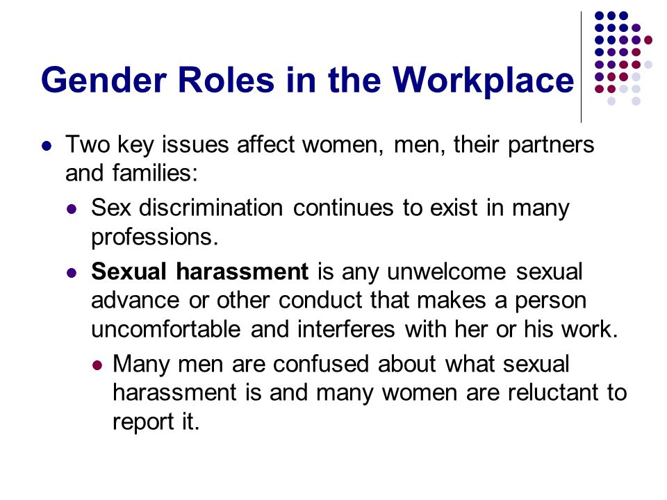 Gender Roles in the Workplace