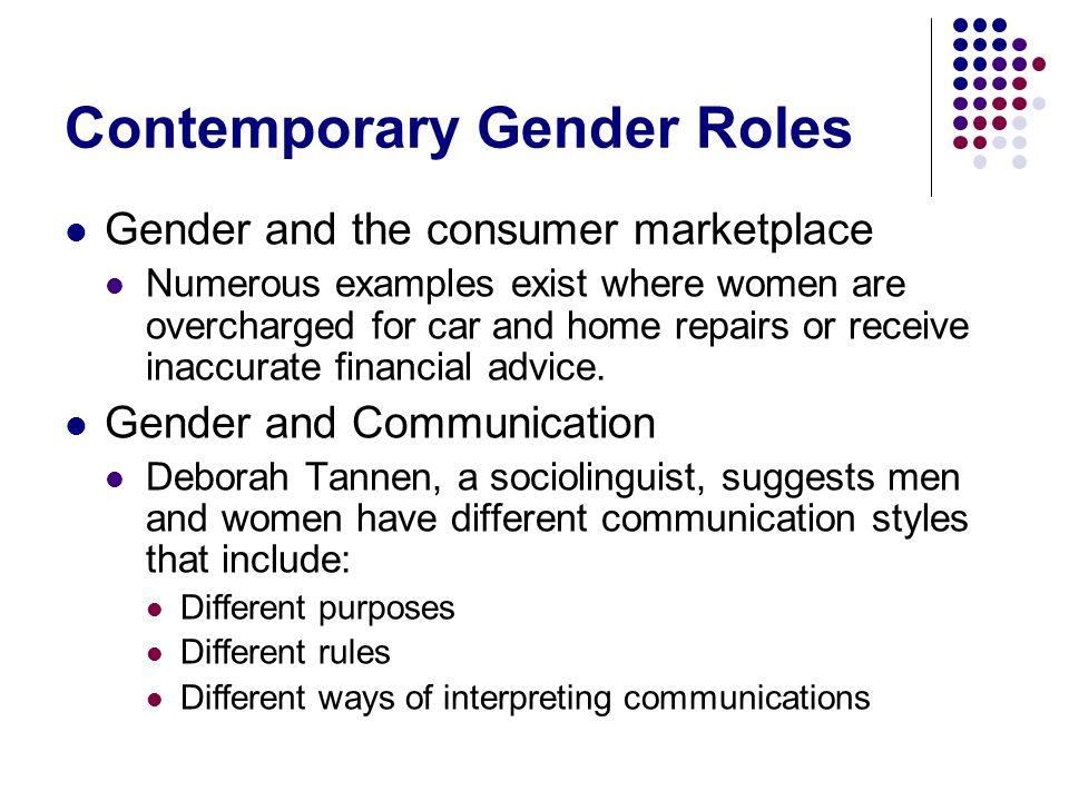 Contemporary Gender Roles