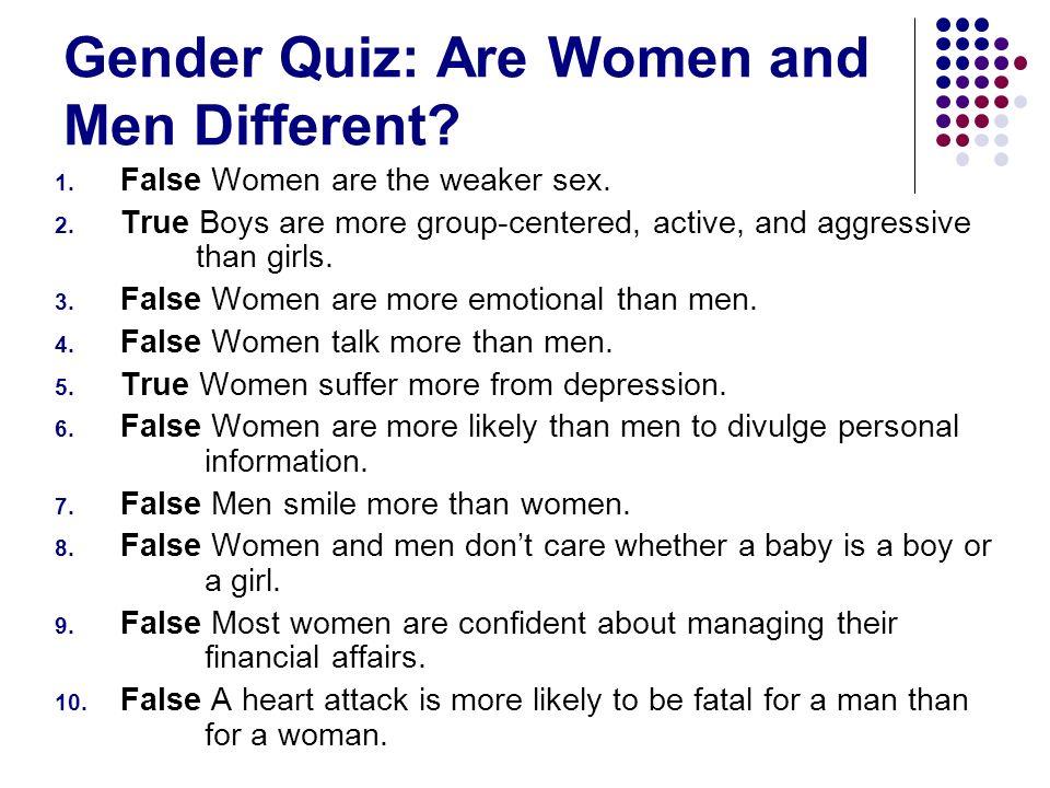 Gender Quiz: Are Women and Men Different
