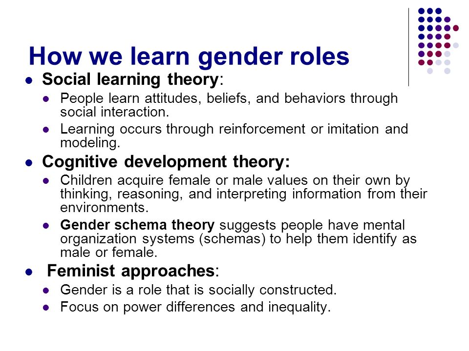 How we learn gender roles