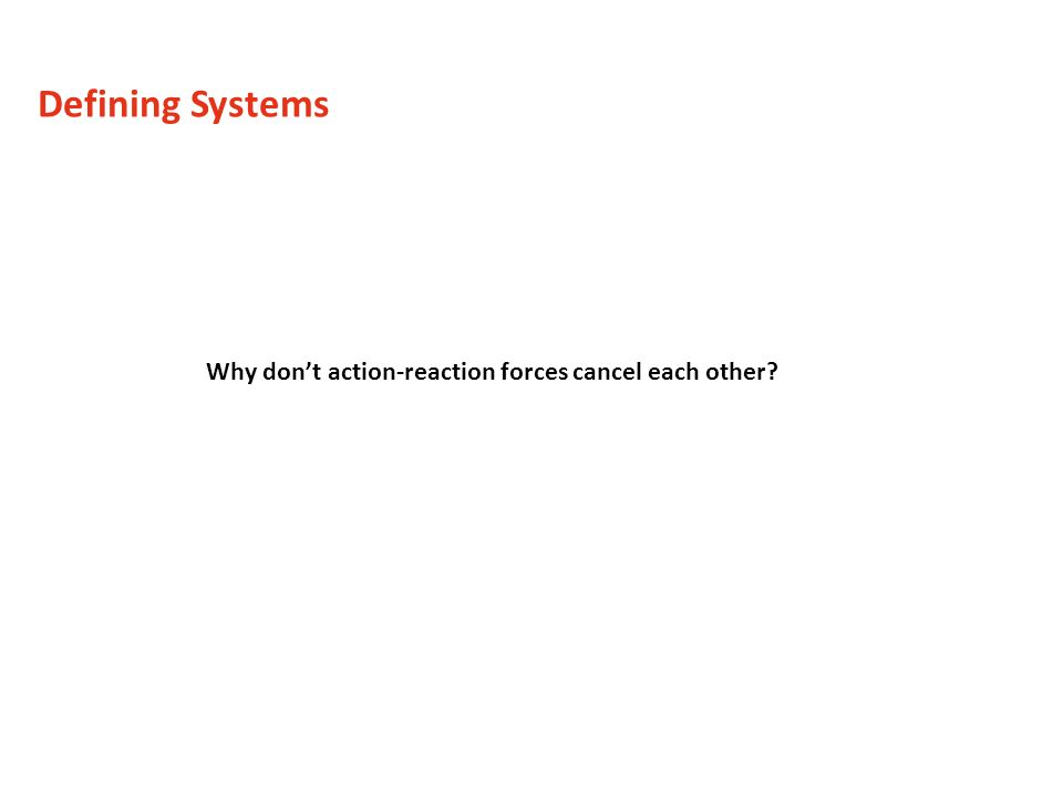 Defining Systems Why don't action-reaction forces cancel each other