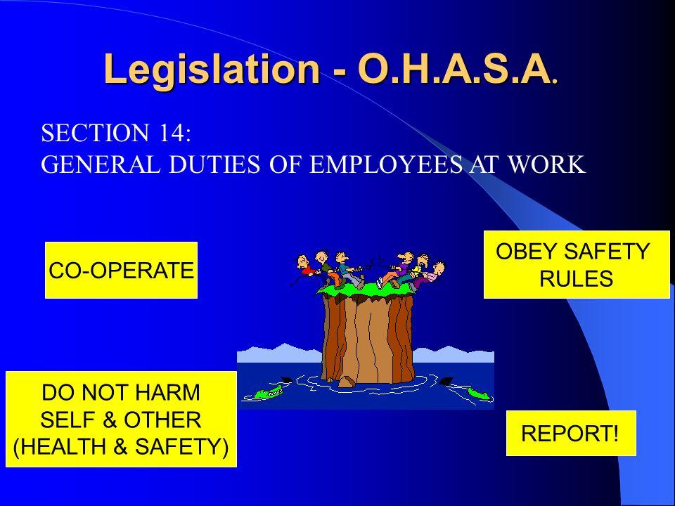 Legislation - O.H.A.S.A. SECTION 14: