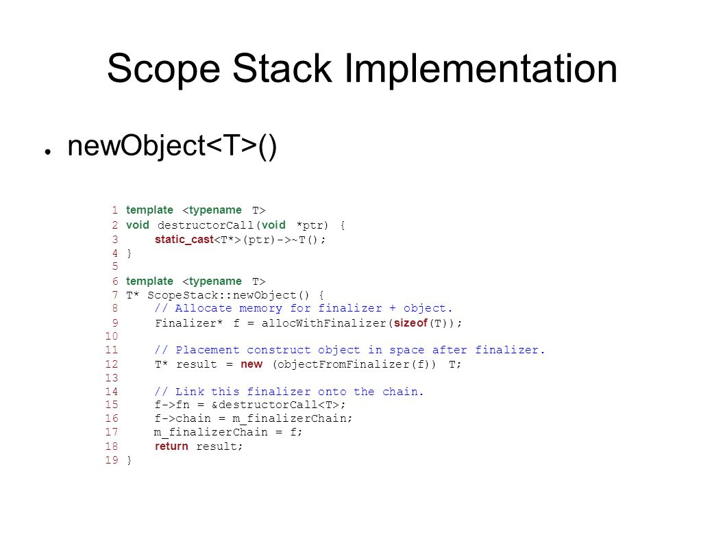Scope Stack Implementation
