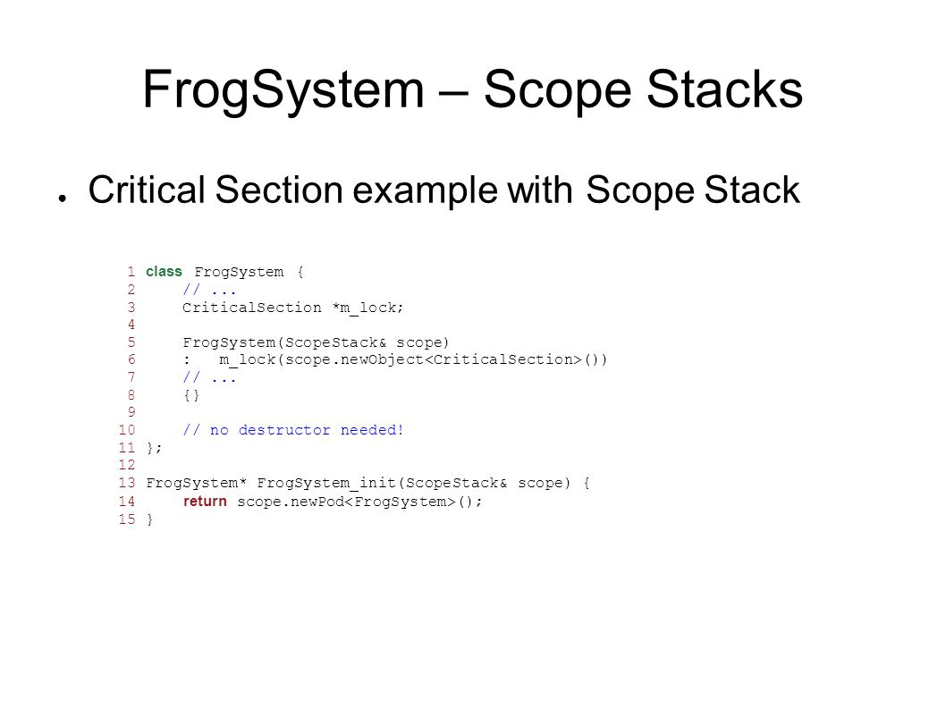 FrogSystem – Scope Stacks