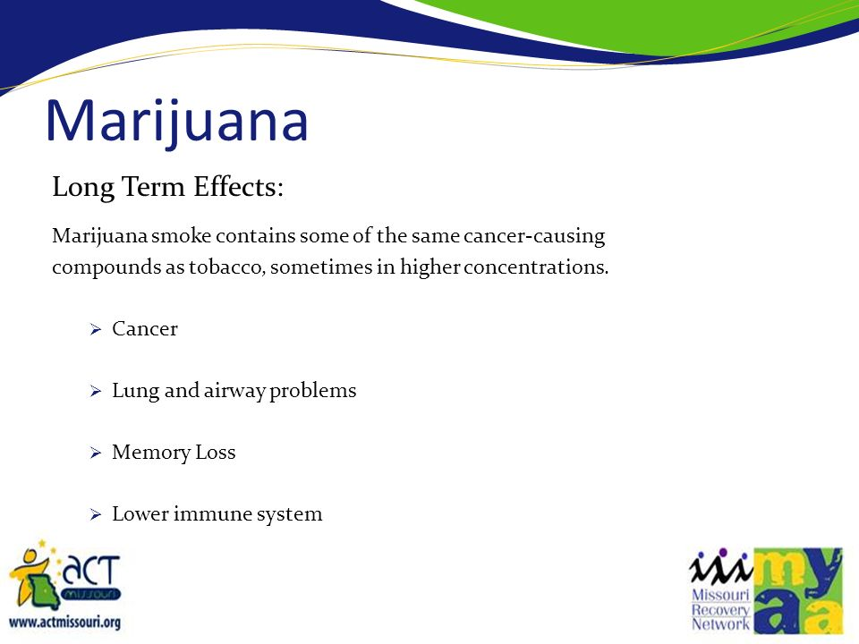 Marijuana Long Term Effects: