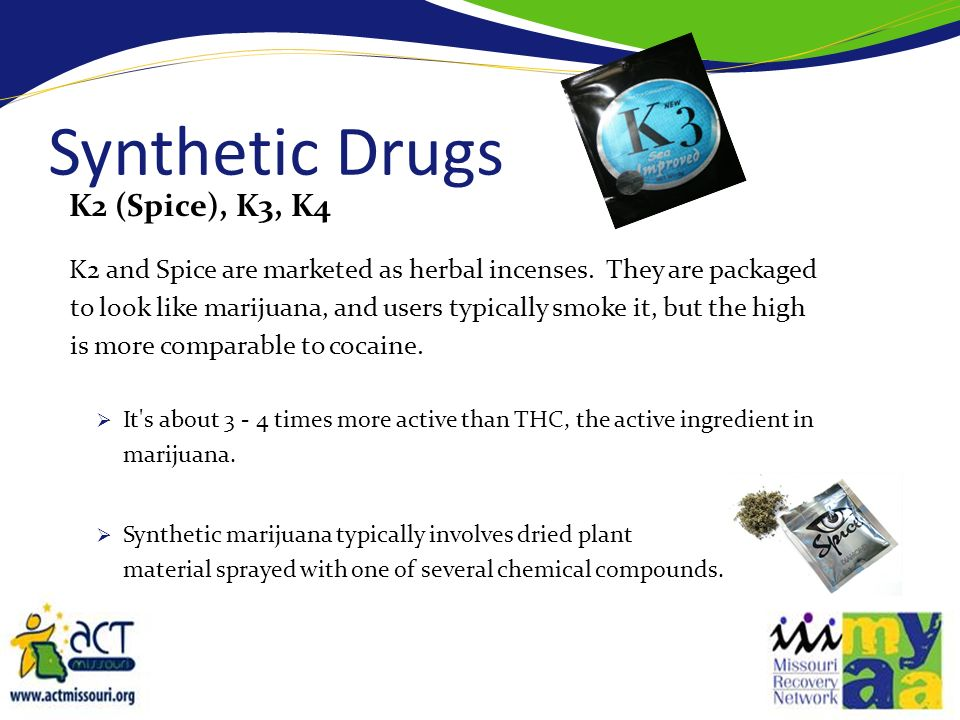 Synthetic Drugs K2 (Spice), K3, K4