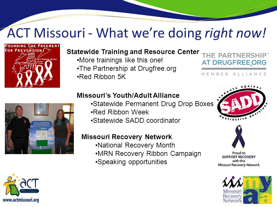 ACT Missouri - What we're doing right now!