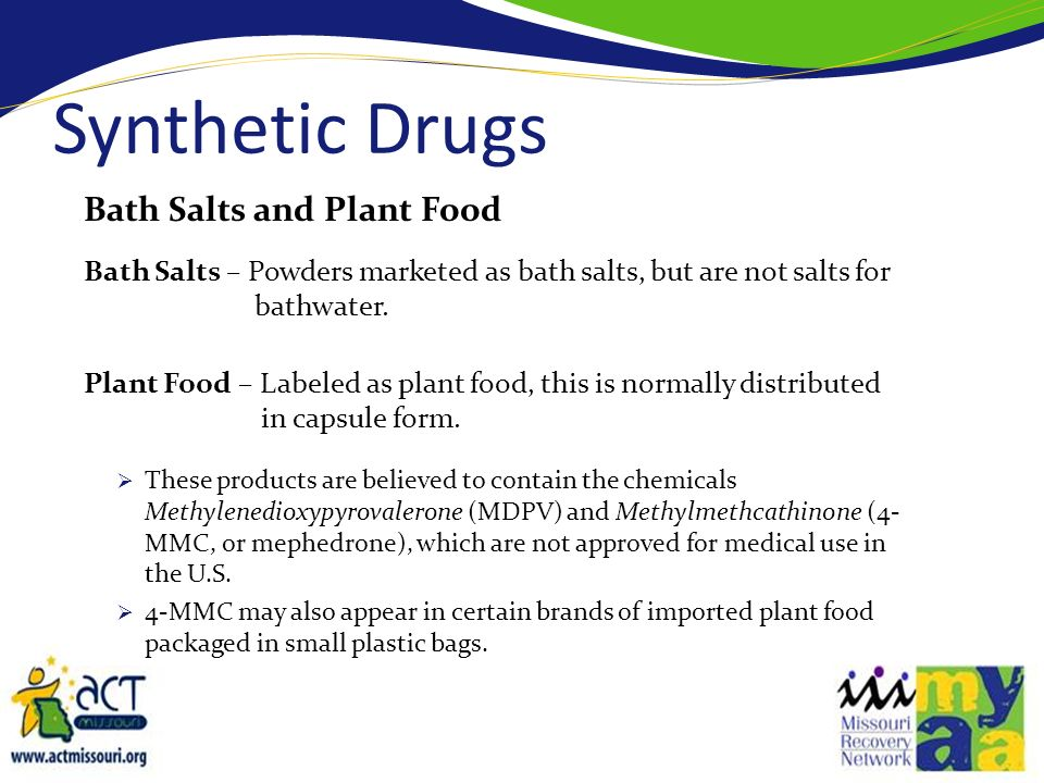 Synthetic Drugs Bath Salts and Plant Food