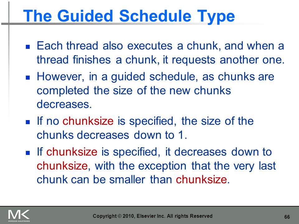 The Guided Schedule Type