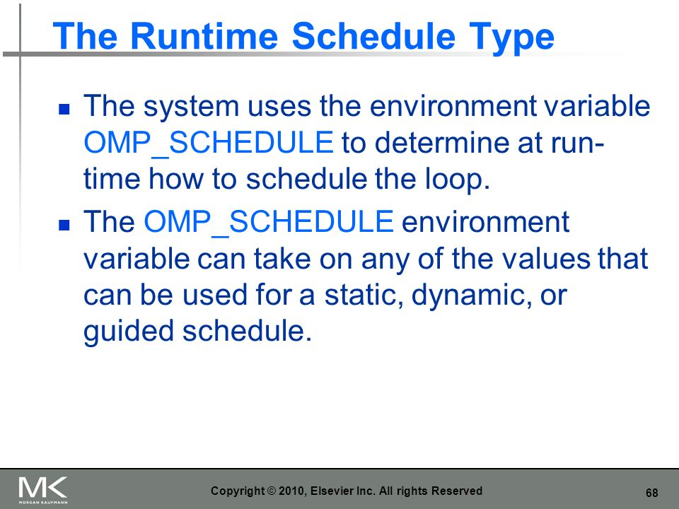 The Runtime Schedule Type