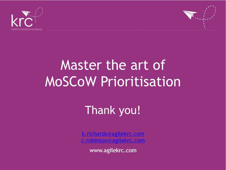 Master the art of MoSCoW Prioritisation