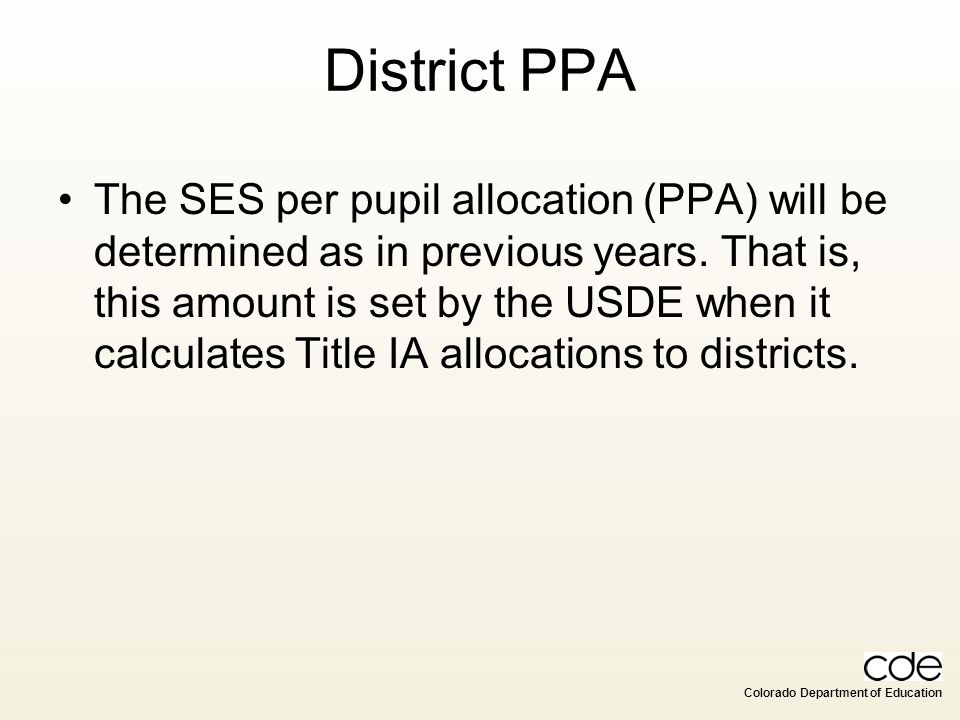 District PPA